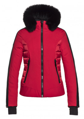 Goldbergh KAJA jacket fox fur RED
