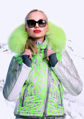 Dámska zimná bunda High Society Charlene jacket Lime / Silver
