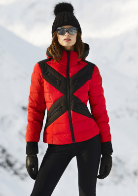 Dámska bunda Goldbergh CROSS jacket RUBY RED