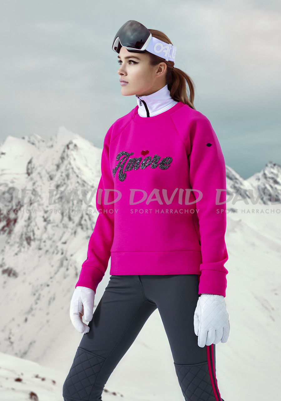 detail Dámska mikina Goldbergh Amore Sweater Wow Pink