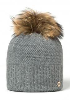 89decbe96 detail Dámska pletená čiapka Granadilla Sparkle Beanie Chic Med Grey