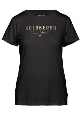 Dámske tričko Goldbergh DAISY short sleeve top BLACK/GOLD