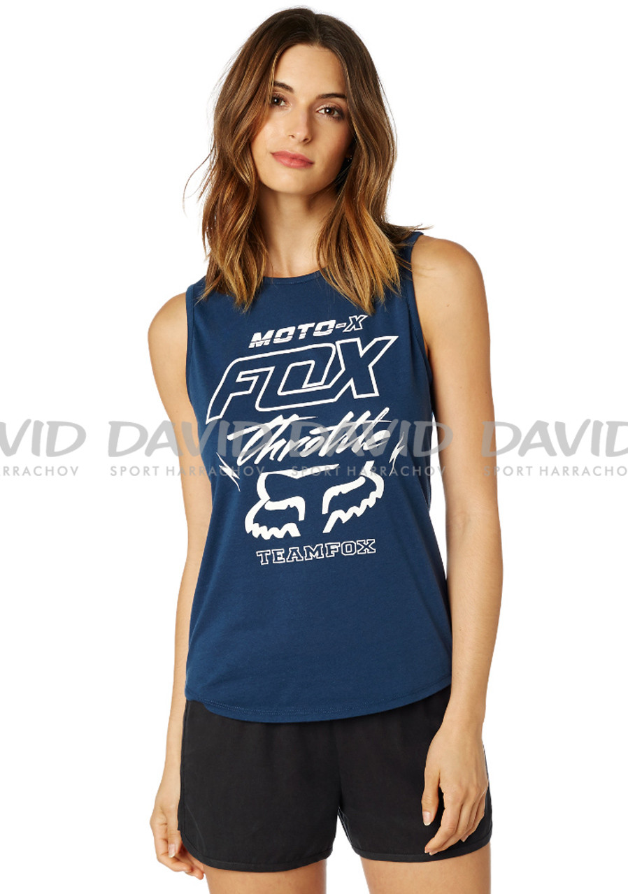 Dámske tielko Fox Throttle Maniac Muscle Light Indigo