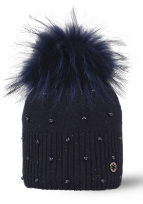 Dámska čiapka Granadilla MOON FUR BLUE NAVY