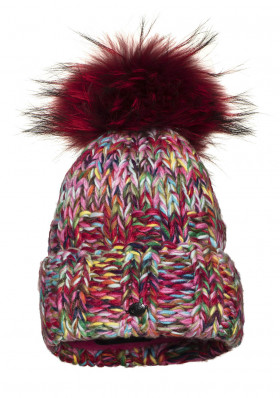 Dámska čiapka Goldbergh ANNA beanie real raccoon fur MULTICOLOR