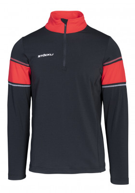 Pánsky rolák Stöckli Functional shirt Black/Red