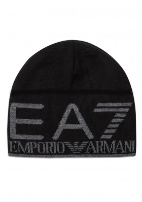 Armani 275893 BEANIE HAT BLACK/GREY