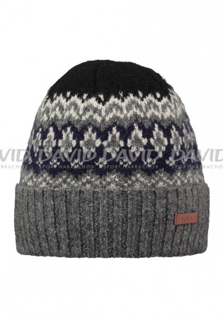 detail Barts Gregoris Beanie Dark Heather
