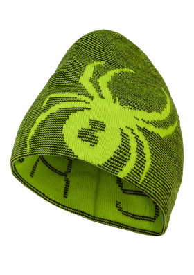 Spyder-197160-327 REVERSIBLE BUG-Hat-sharp lime