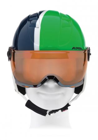 detail Detská lyžiarska prilba Alpina Carat Visor JR GR   blu 05f0423cca5