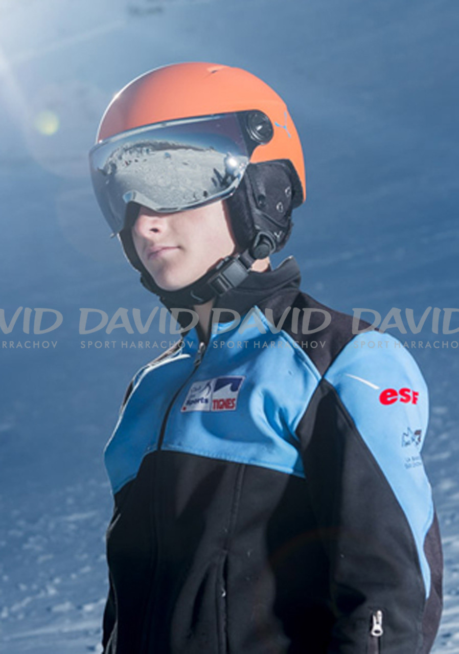 detail Detská lyžiarska prilba Cebe Fireball Junior oranžová matt 777d6fe3624