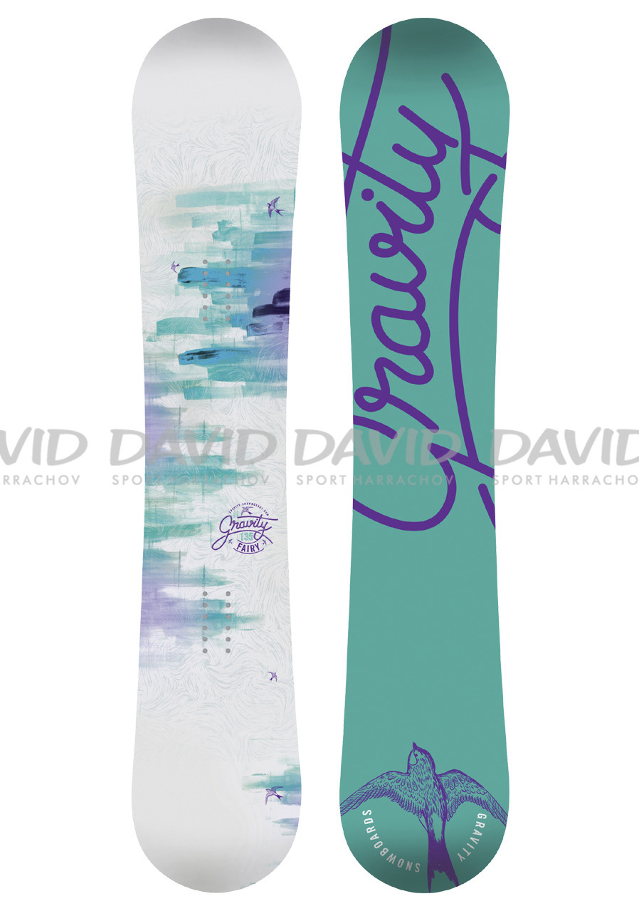 f3c7bc1cd Dámsky snowboard Gravity Fairy biely | David sport Harrachov