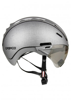 Helma na bicykel Casco Roadster Silver Denim + Visor