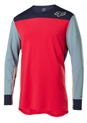 Cyklo dres Fox Defend Delta Ls Jersey Bright Red