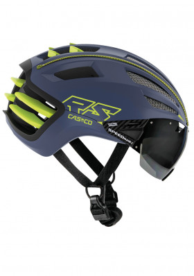 Casco SPEEDairo 2 RS blue-neon yellow-Vautron Visor