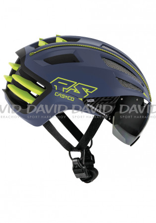detail Casco SPEEDairo 2 RS blue-neon yellow-Vautron Visor