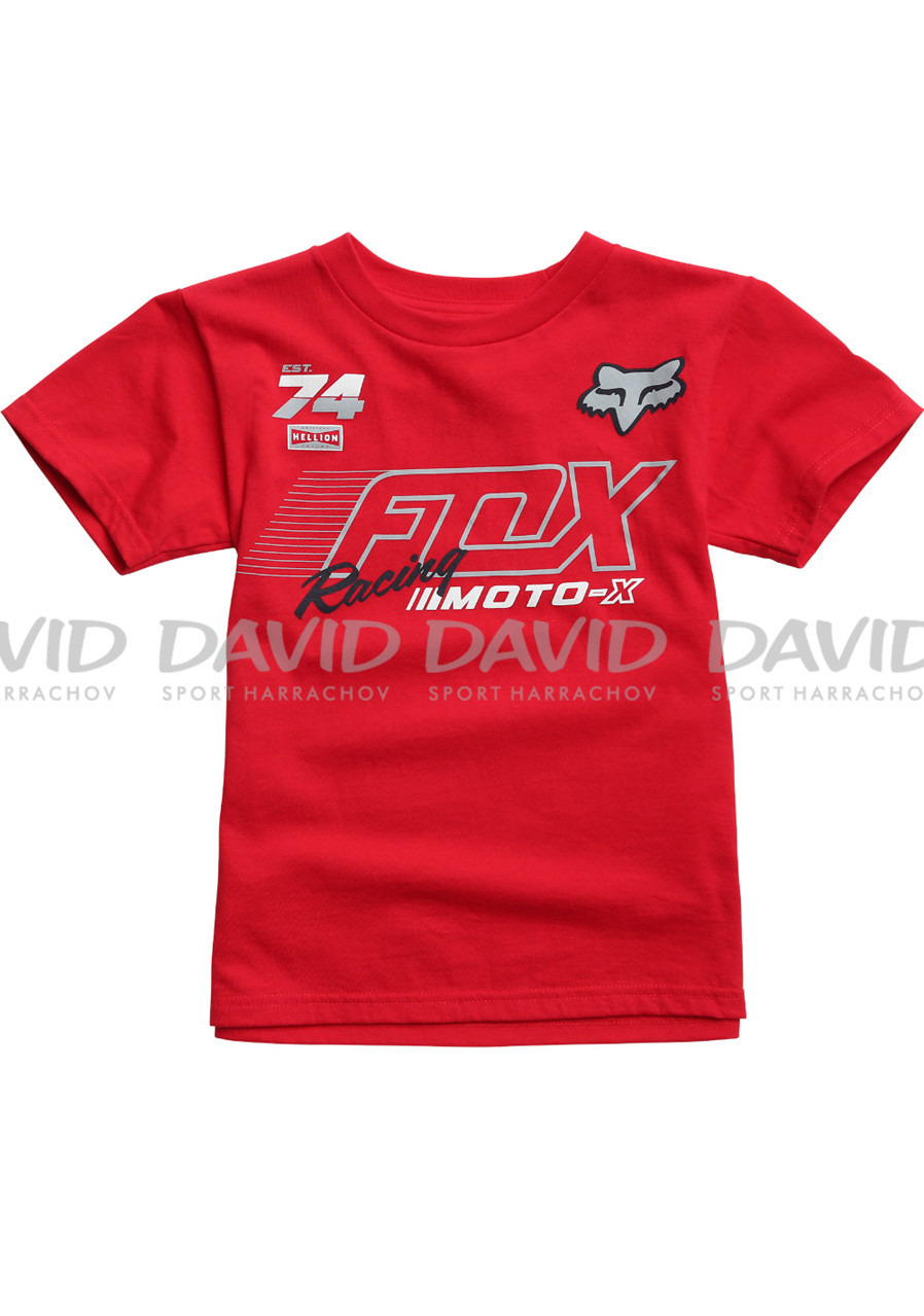 Detské tričko Fox Kids Flection SS Tee Dark Red