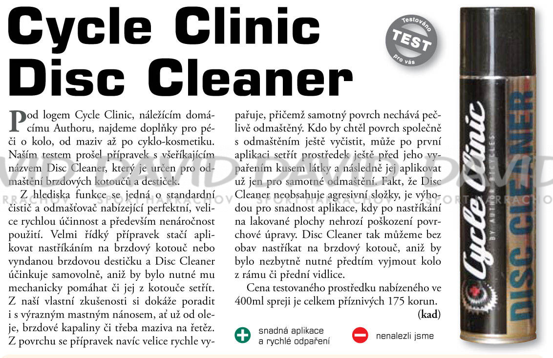 náhľad Author Čistič Cycle Clinic Disc 400ml