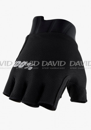 detail Cyklo rukavice 100% EXCEEDA Gel Short Finger Gloves Solid Black